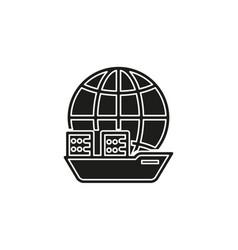 boat ship icon cruise ship - boat sea travel vector image