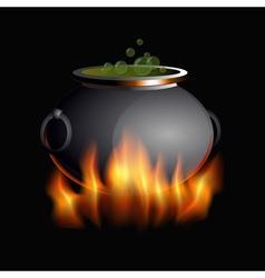 Burning boiler vector