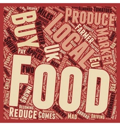 Buy Local Food To Reduce Food Miles text vector