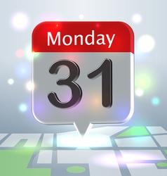 Calendar new Year Eve badge vector