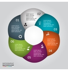 circle element for infographic vector image