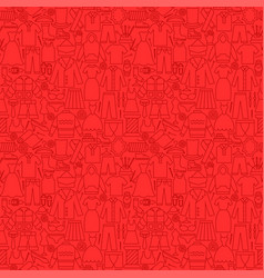 Clothing line seamless pattern vector