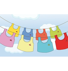 Colorful hanging clothes vector image
