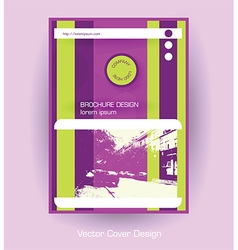 company brochure purple template vector image