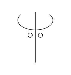 darkness symbol icon vector image