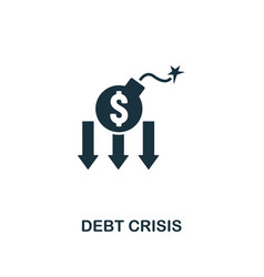 debt crisis icon creative element design from vector image