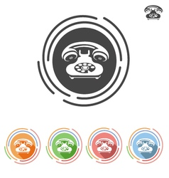 Dial phone icon vector