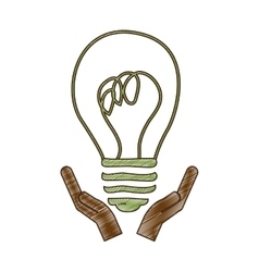 eco friendly lightbulb icon image vector image