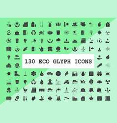 Ecology and nature care glyph icons set vector