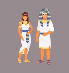 Egyptian costume vector