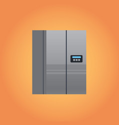 electric fridge icon kitchen equipment home vector image