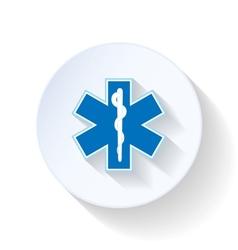 Emblem ambulance flat icon vector