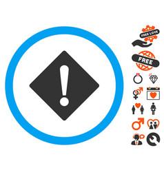 Error icon with valentine bonus vector