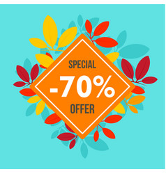 final autumn offer sale background flat style vector image