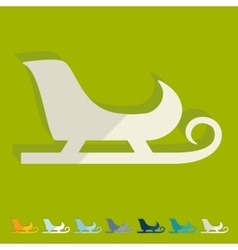 Flat design sledge vector image