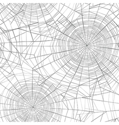 Halloween seamless pattern Spider web background vector image