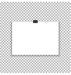 hanging paper banner a4 poster hanging mockup ve vector image