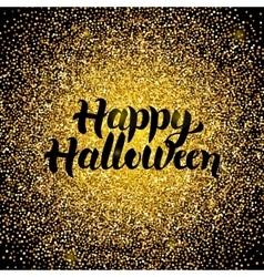 Happy Halloween Gold Design vector