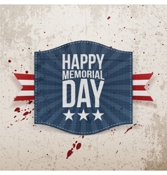 Happy Memorial Day paper Banner with Text vector image