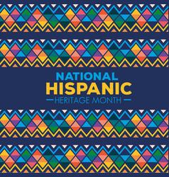 Hispanic and latino americans culture national vector
