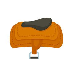 Horse riding saddle icon flat style vector