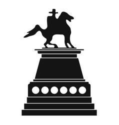 Horse statue icon simple style vector