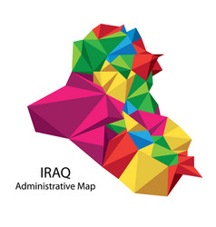 Iraq map administrative vector