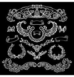 Laurel wreath set Decorative elements vector image