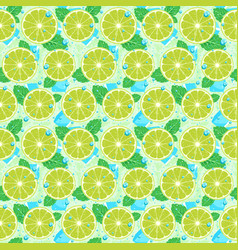 lime with mint seamless pattern vector image