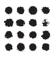 monochrome ink dots blots smudges and drops set vector image