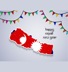 nepali new year background vector image