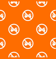 No butterfly sign pattern seamless vector