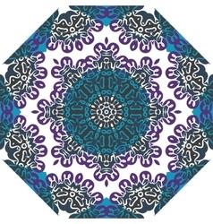 Oriental symmetrical round pattern Indian art vector