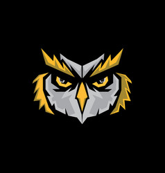 Owl head vector