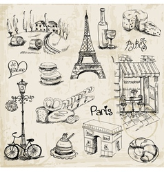 Paris set vector