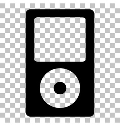 Portable music device Flat style black icon on vector