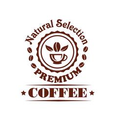 Premium coffee shop or cafeteria icon vector