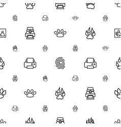 Print icons pattern seamless white background vector