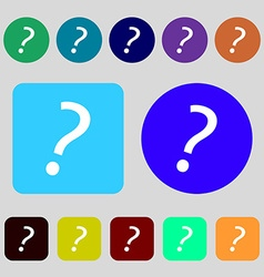 Question mark sign icon Help symbol FAQ sign 12 vector