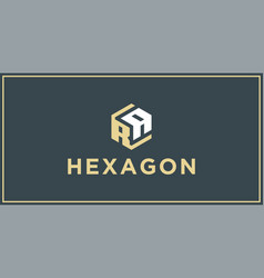 Ra hexagon logo design inspiration vector