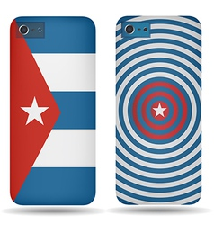 Rear covers smartphone with flags of Cuba vector