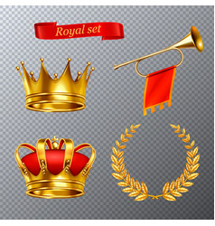 royal transparent set vector image
