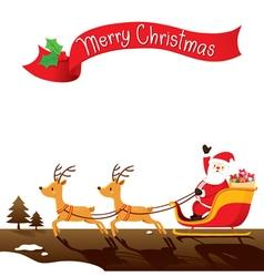 Santa Claus Riding On Sleigh vector