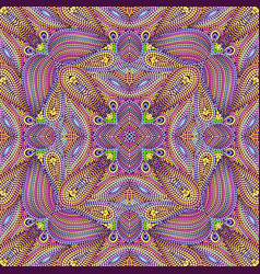 Seamless mosaic paisley pattern vector
