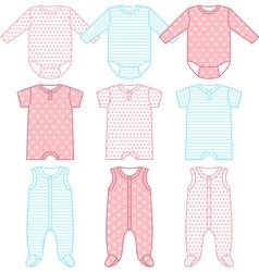 Set child wear vector