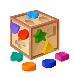 shape sorter toy isolated on white background vector image