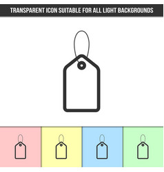 simple outline transparent price tag icon vector image