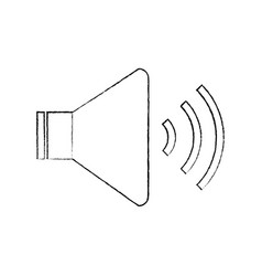 speaker sound on icon image vector image