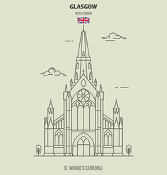 st mungo cathedral in glasgow vector image