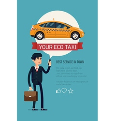 Taxi Service App Poster vector image